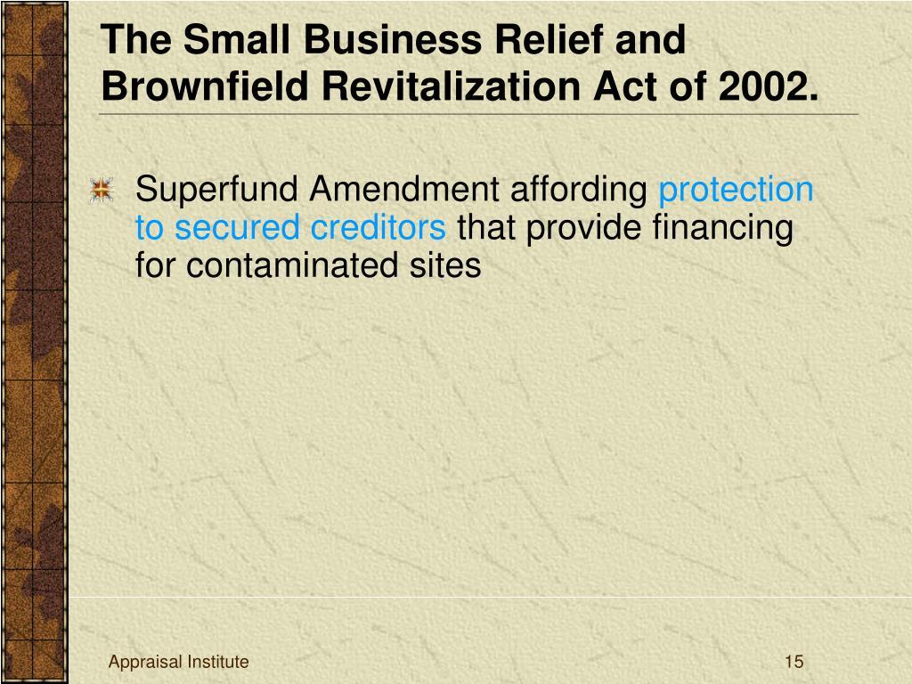 Superfund Amendment affording