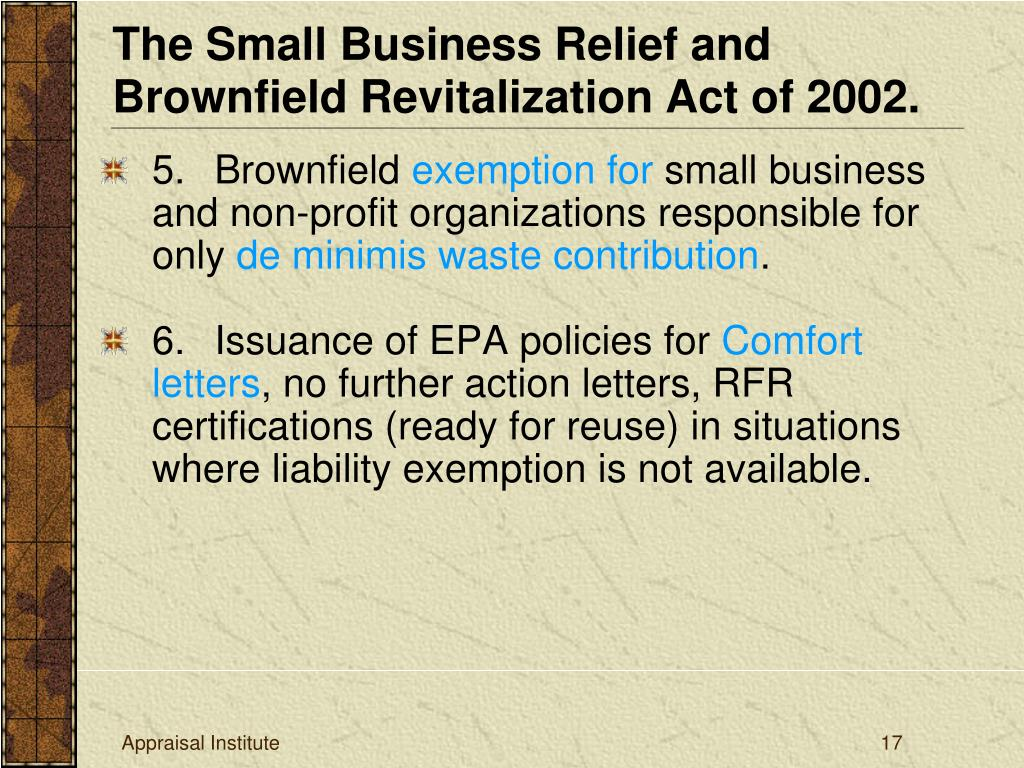 5. Brownfield