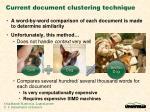 current document clustering technique