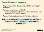 part of speech tagging