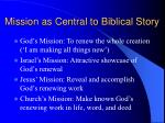 mission as central to biblical story