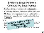 evidence based medicine comparative effectiveness87