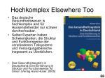 hochkomplex elsewhere too