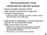 some producers have stretched the lab fee system