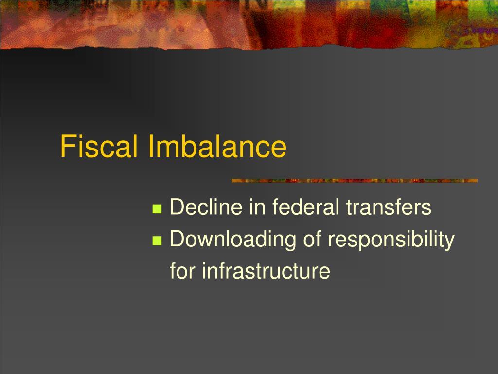 Fiscal Imbalance