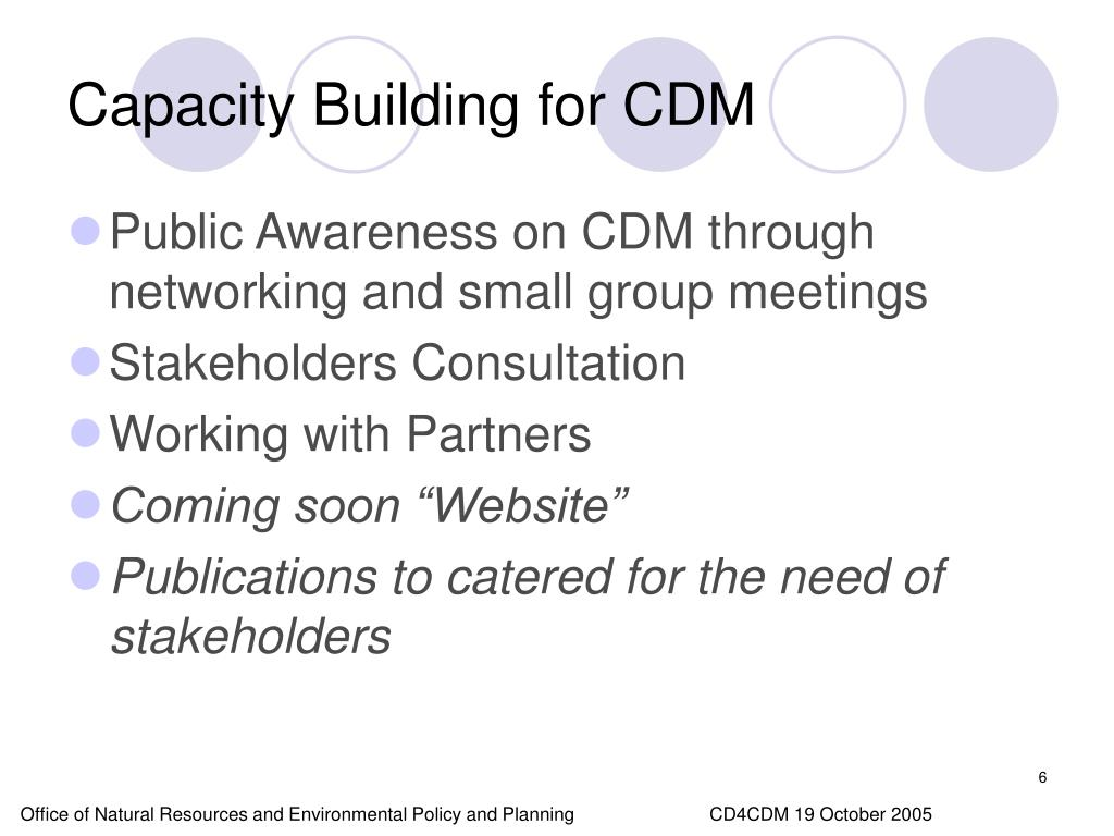 Capacity Building for CDM