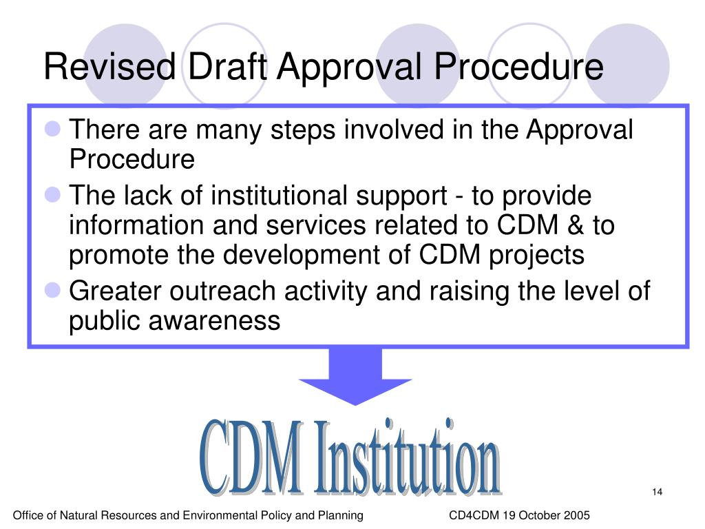 Revised Draft Approval Procedure