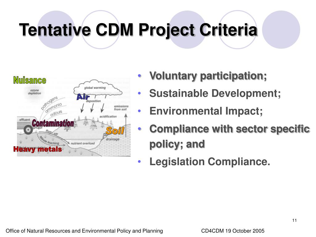 Tentative CDM Project Criteria