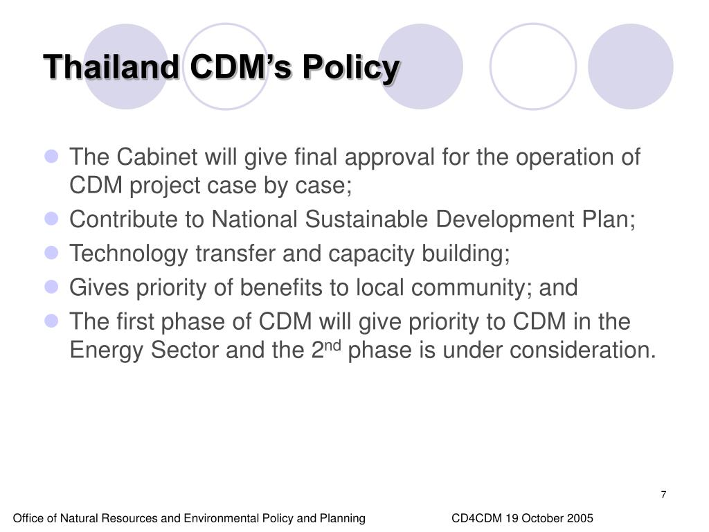 Thailand CDM's Policy