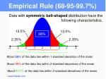 empirical rule 68 95 99 7