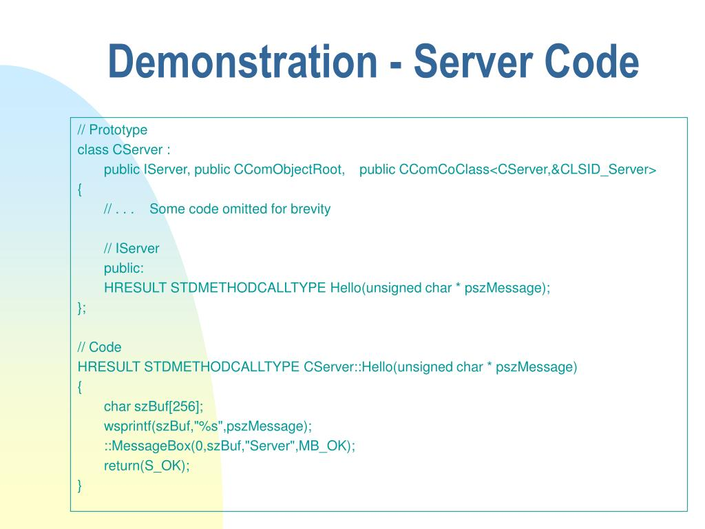 Demonstration - Server Code
