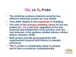 ch 4 vs h 2 probe