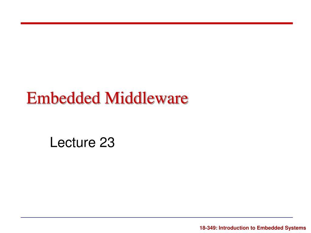embedded middleware