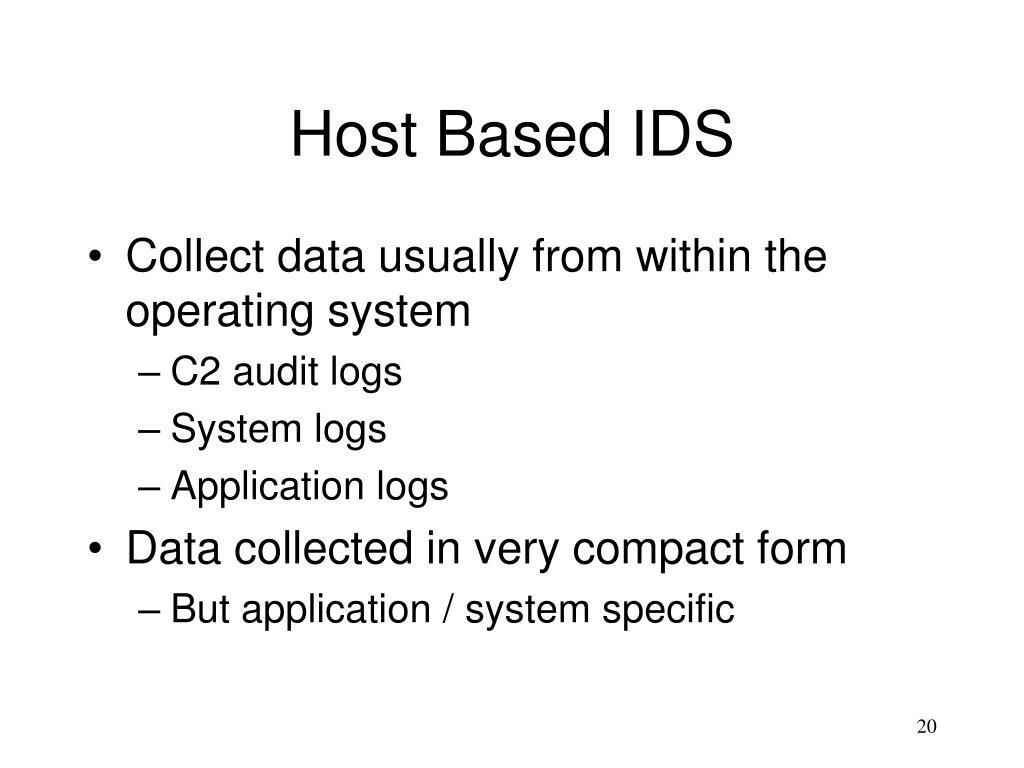 Host Based IDS
