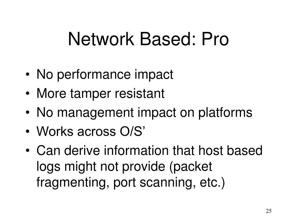 Network Based: Pro