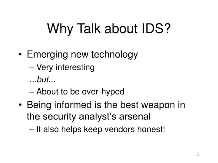 Why talk about ids l.jpg