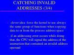 catching invalid addresses 3 4