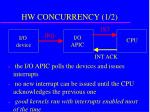 hw concurrency 1 2