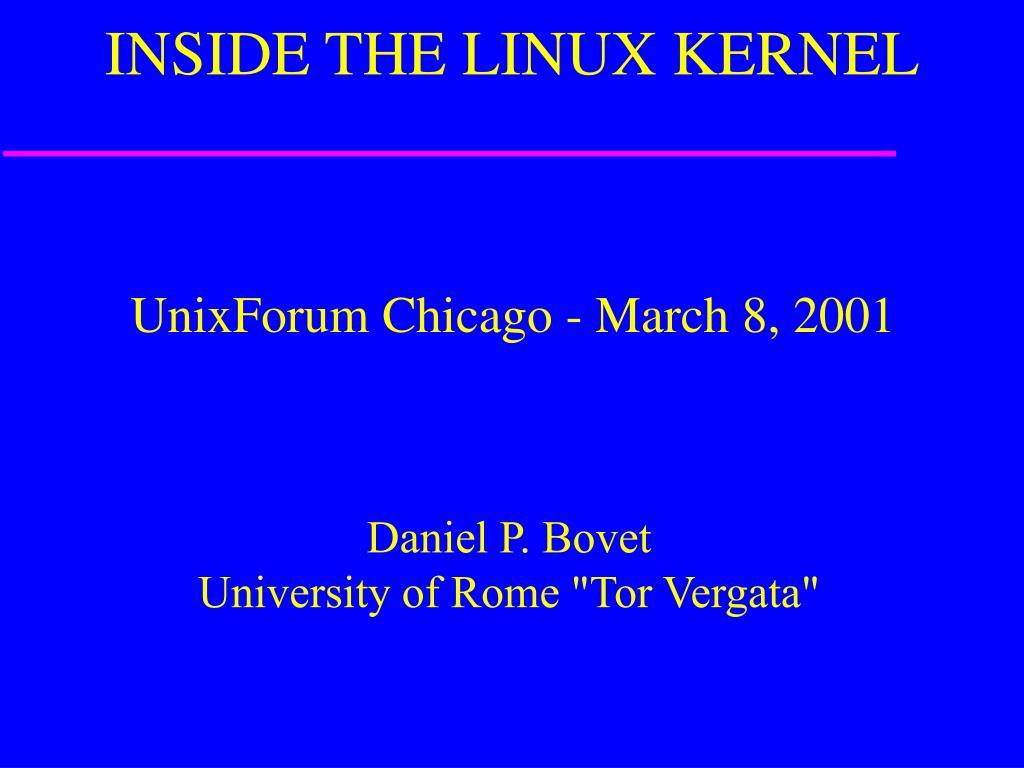inside the linux kernel