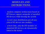 modules and distributions