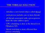 the thread solution