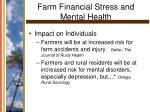 farm financial stress and mental health11