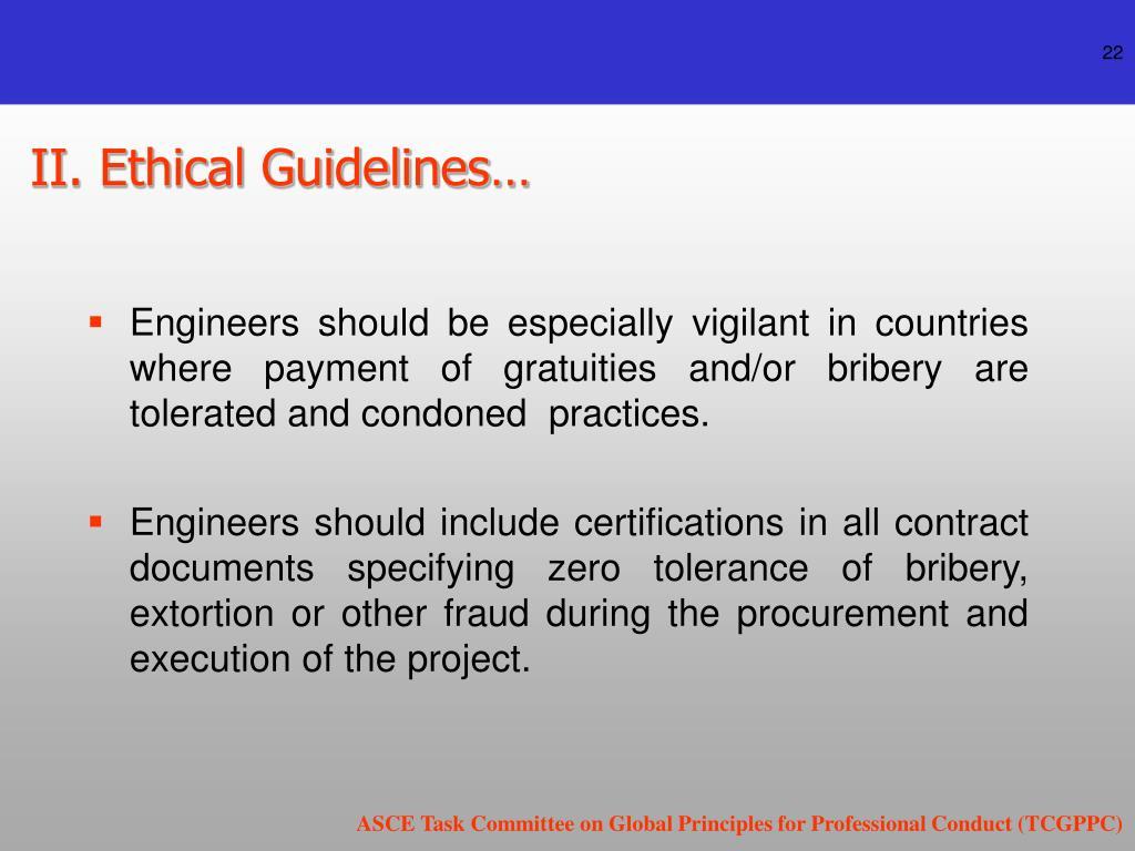 II. Ethical Guidelines…