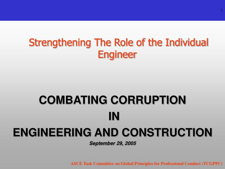 Strengthening the role of the individual engineer l.jpg