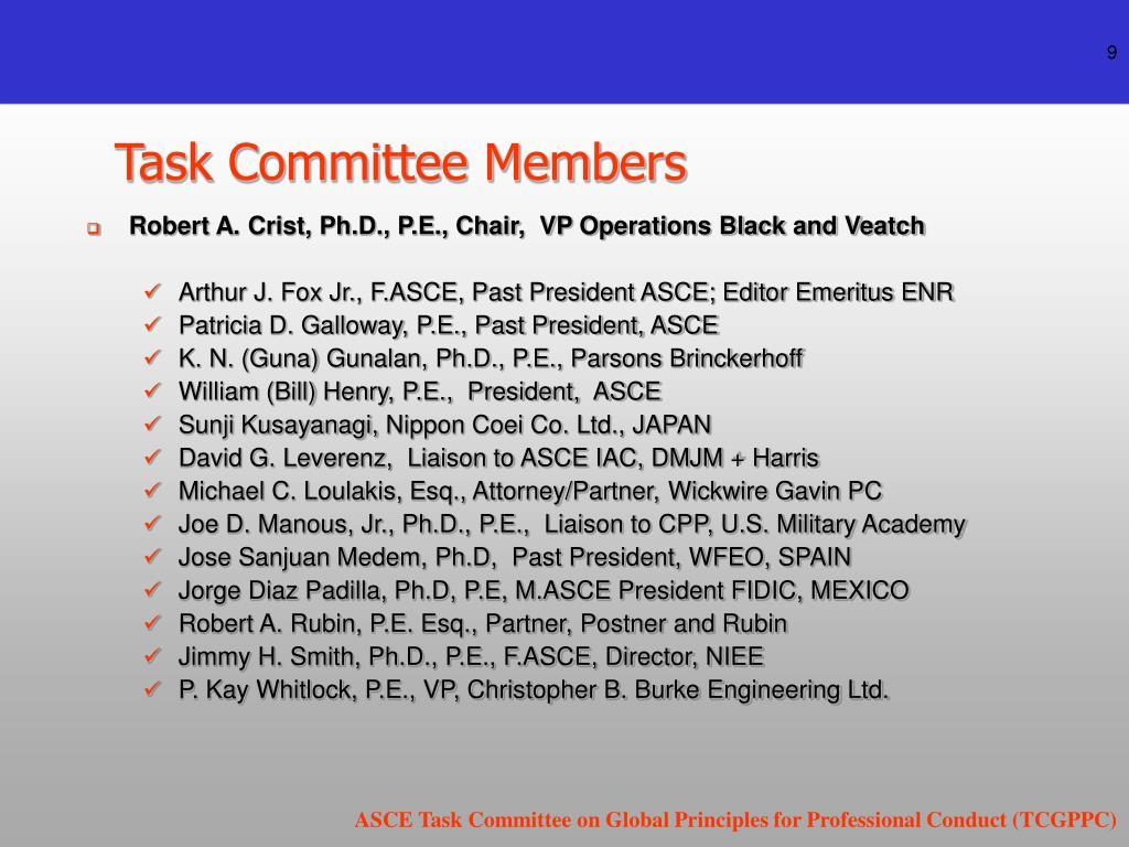 Task Committee Members