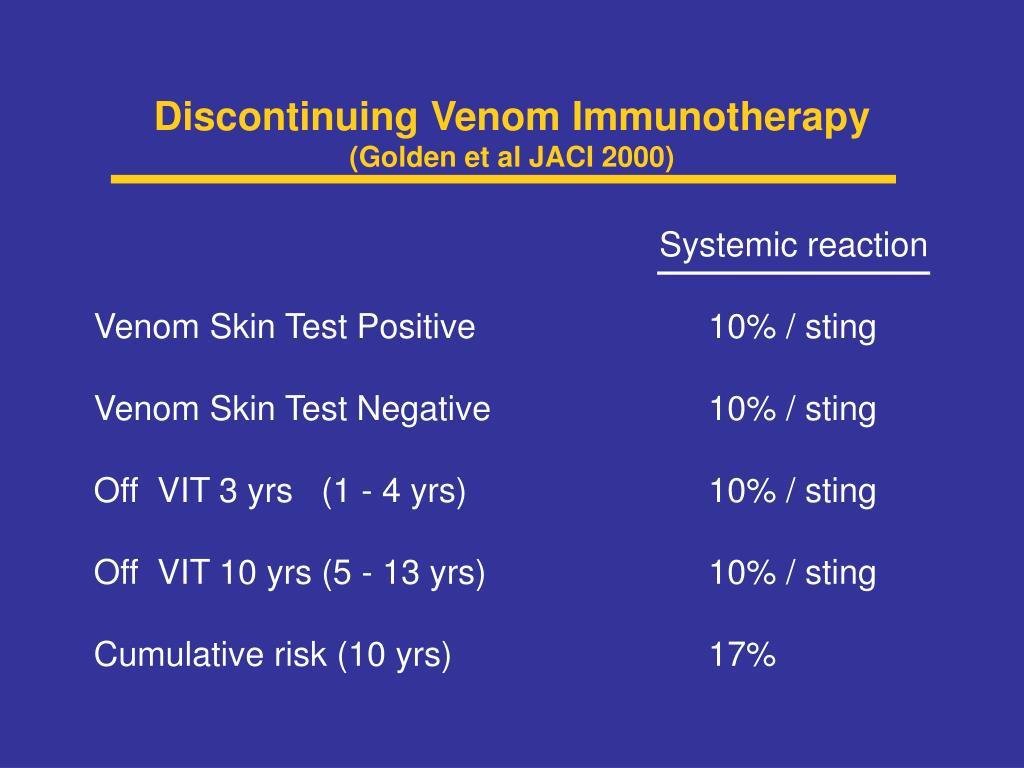 Discontinuing Venom Immunotherapy