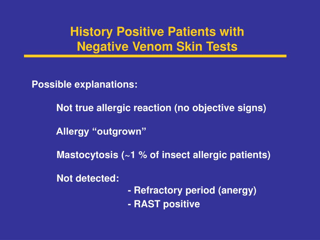 History Positive Patients with
