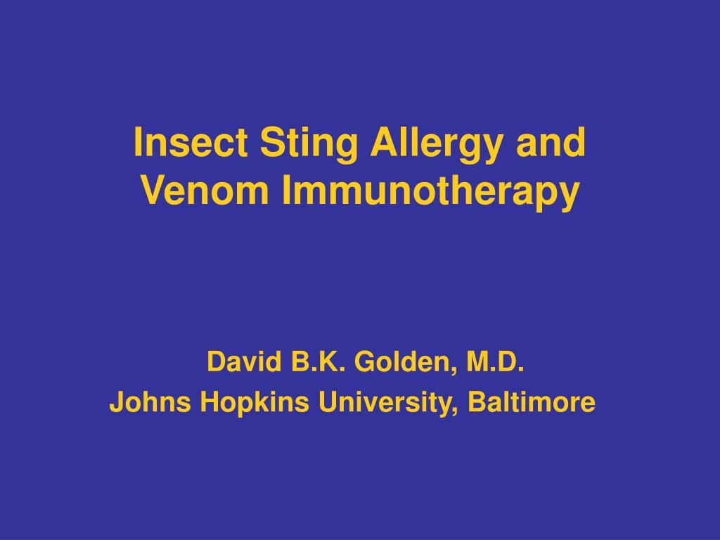 Insect Sting Allergy and