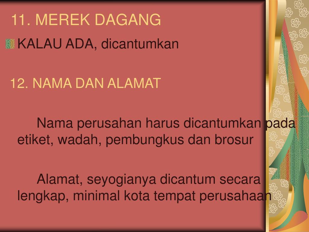 11. MEREK DAGANG