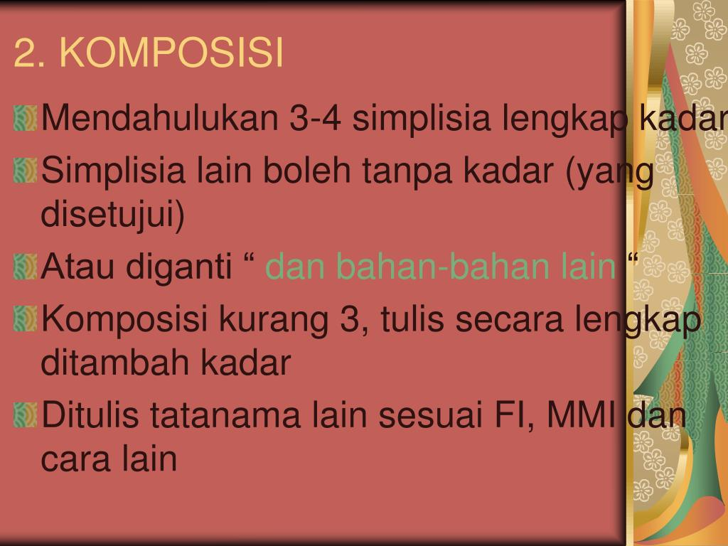 2. KOMPOSISI