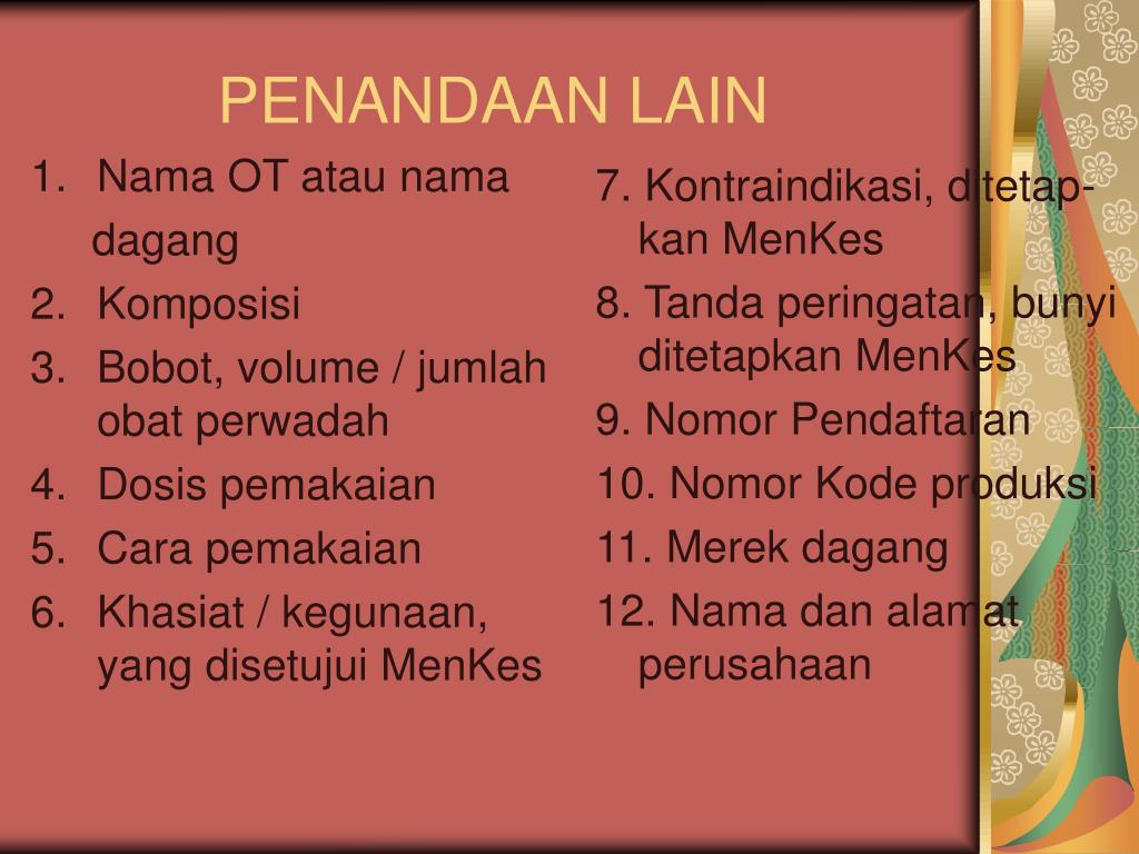 Nama OT atau nama