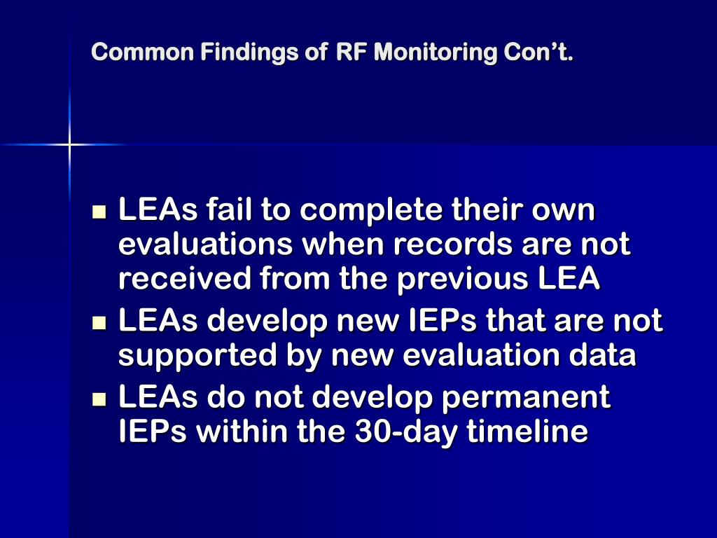 Common Findings of RF Monitoring Con't.