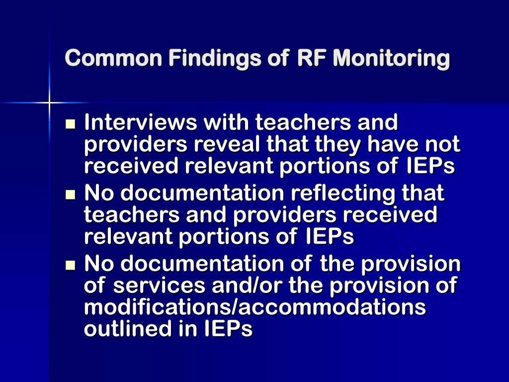 Common Findings of RF Monitoring