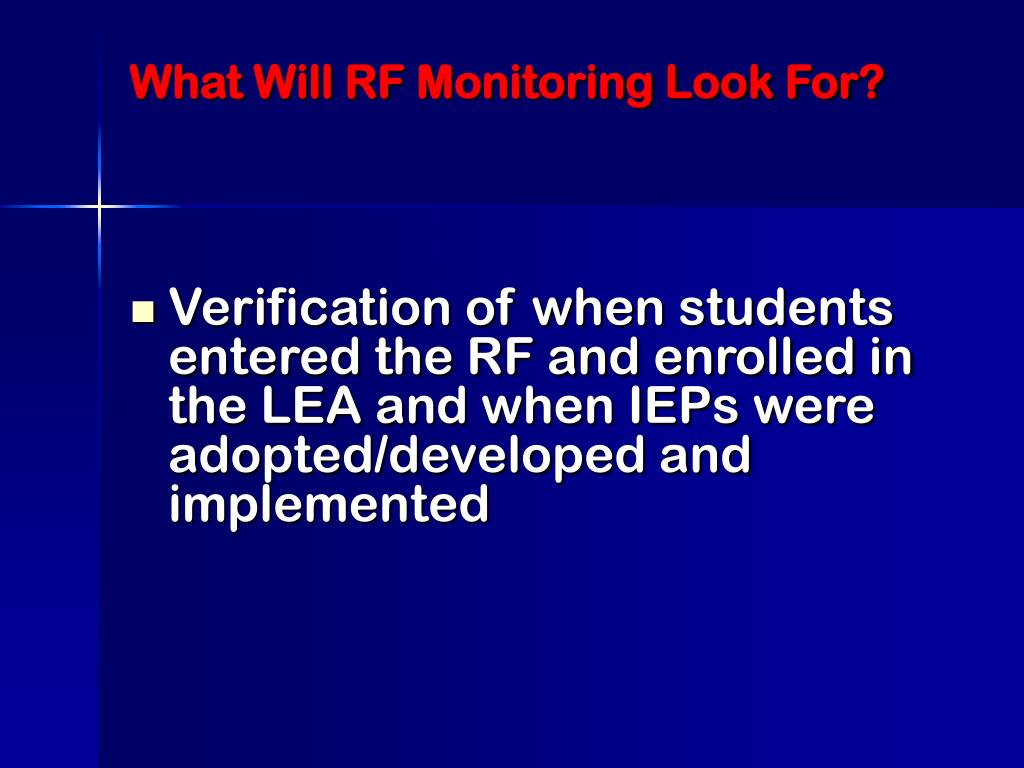What Will RF Monitoring Look For?