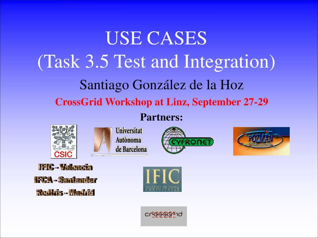 use cases task 3 5 test and integration