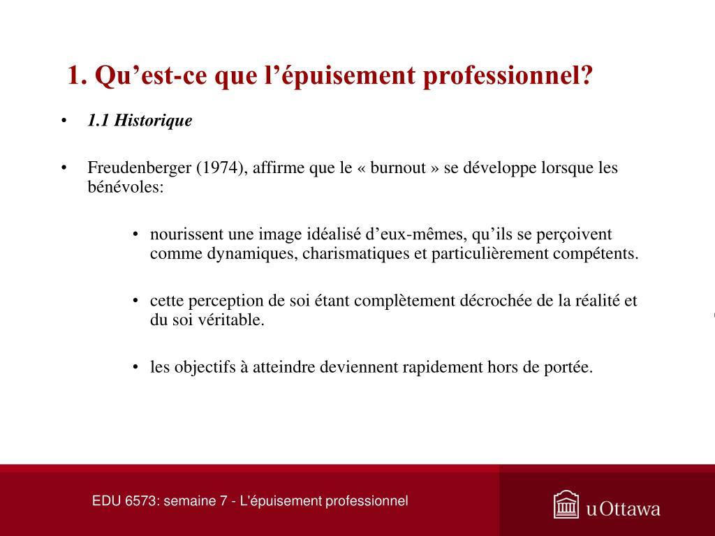 1. Qu'est-ce que l'épuisement professionnel?