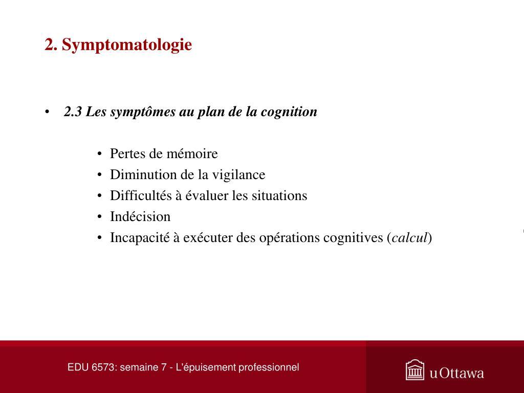 2. Symptomatologie