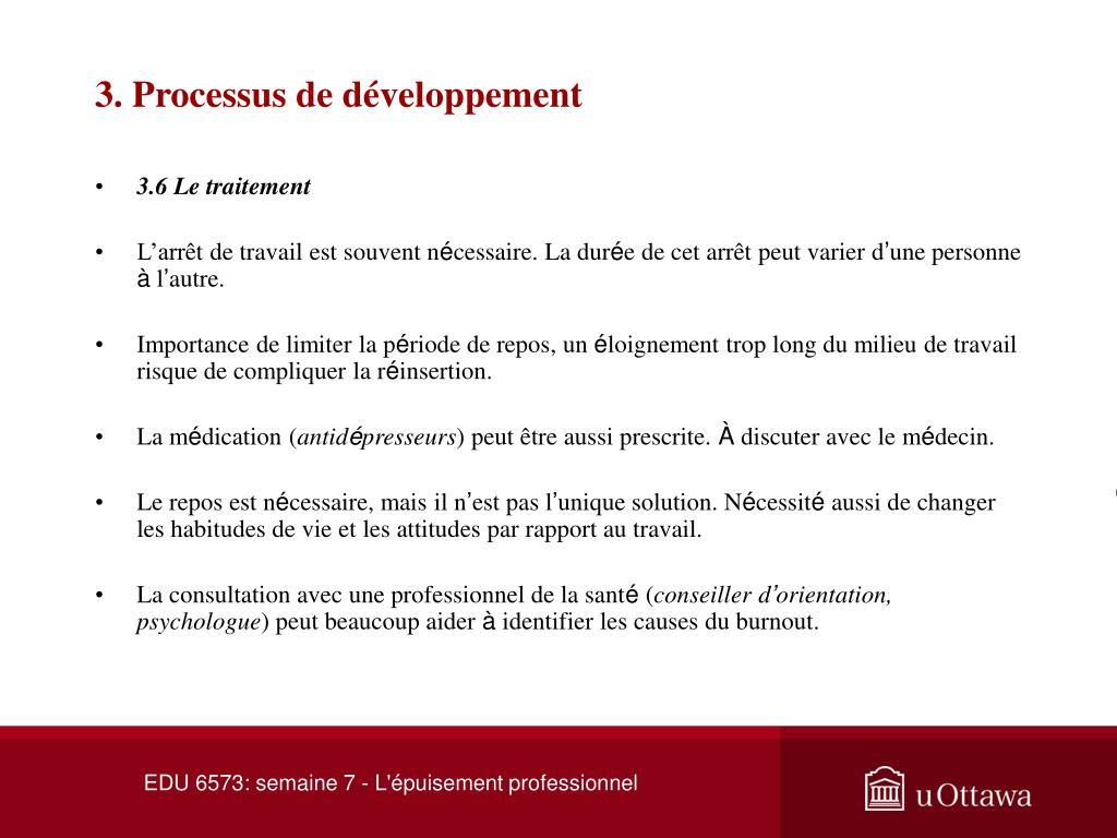 3. Processus de développement