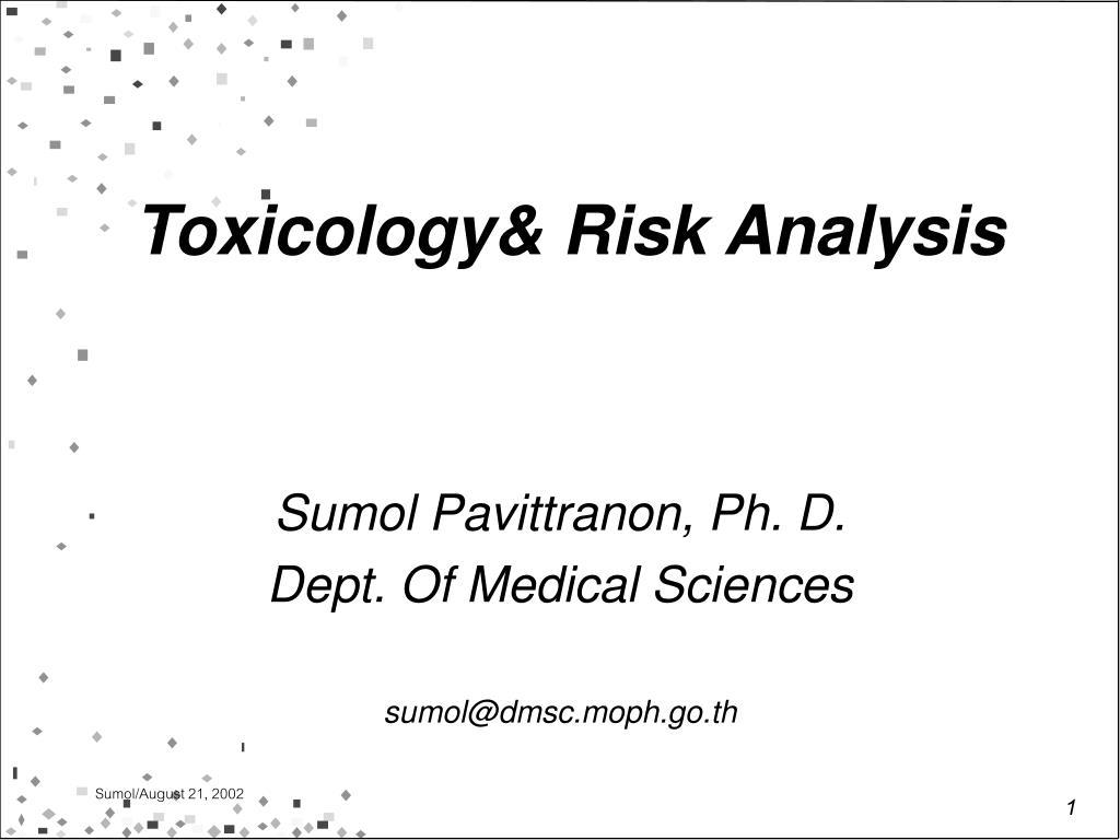 toxicology risk analysis