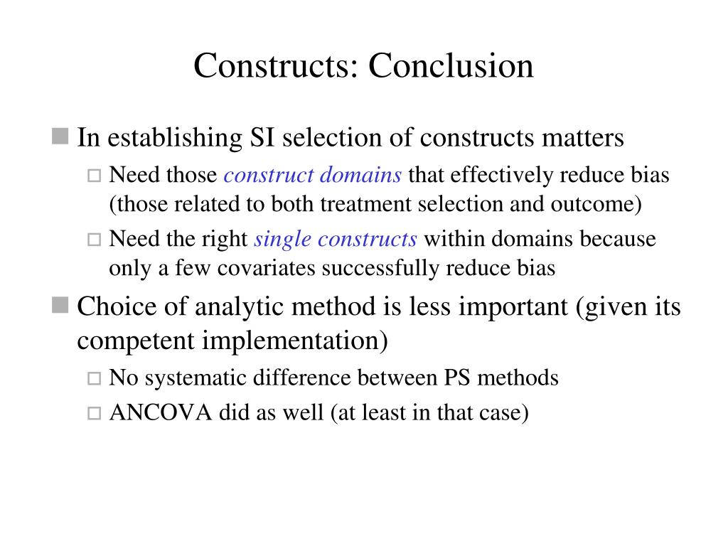 Constructs: Conclusion