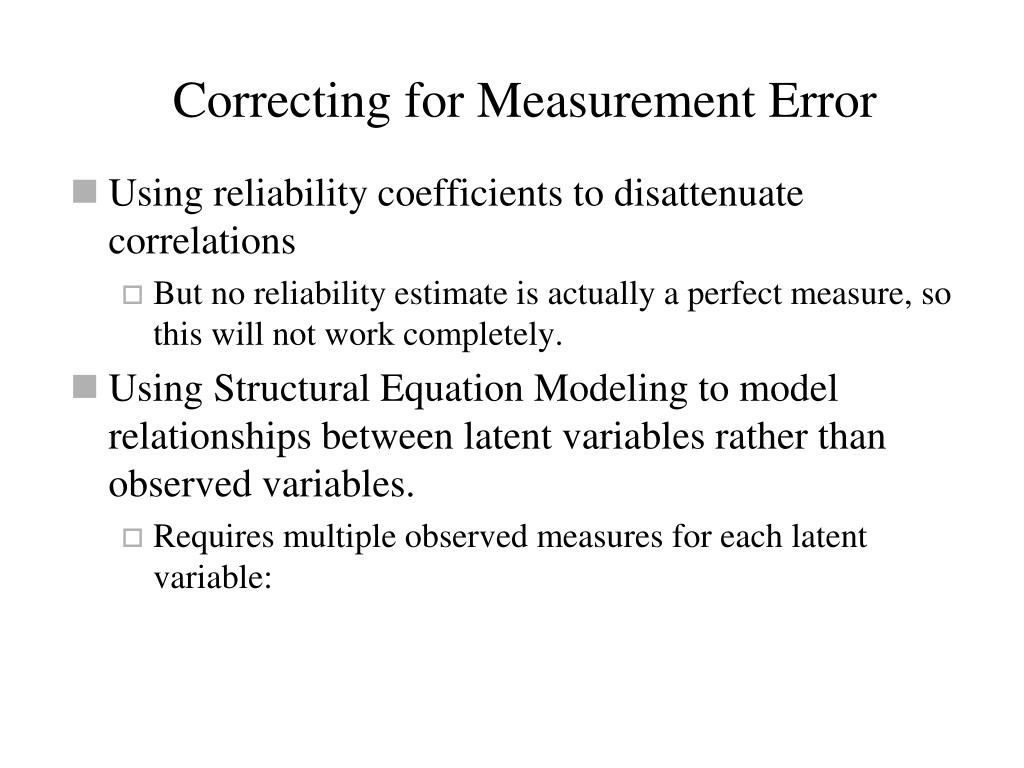 Correcting for Measurement Error