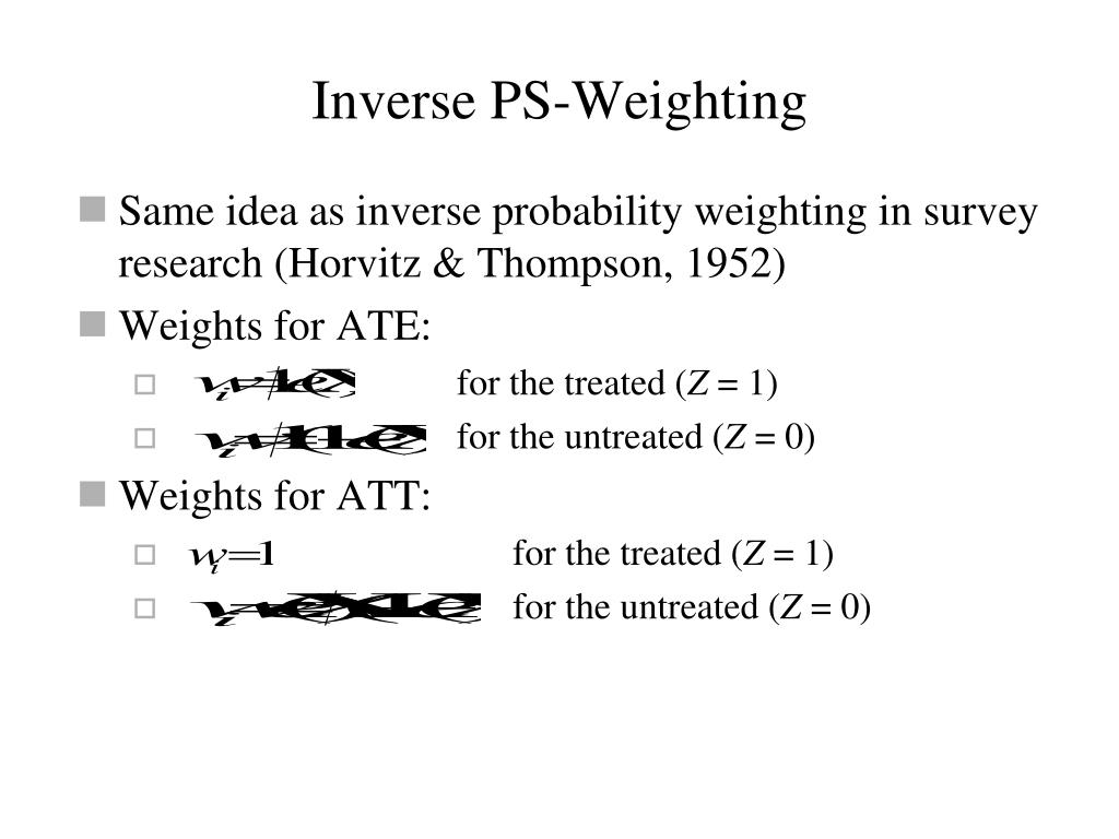 Inverse PS-Weighting