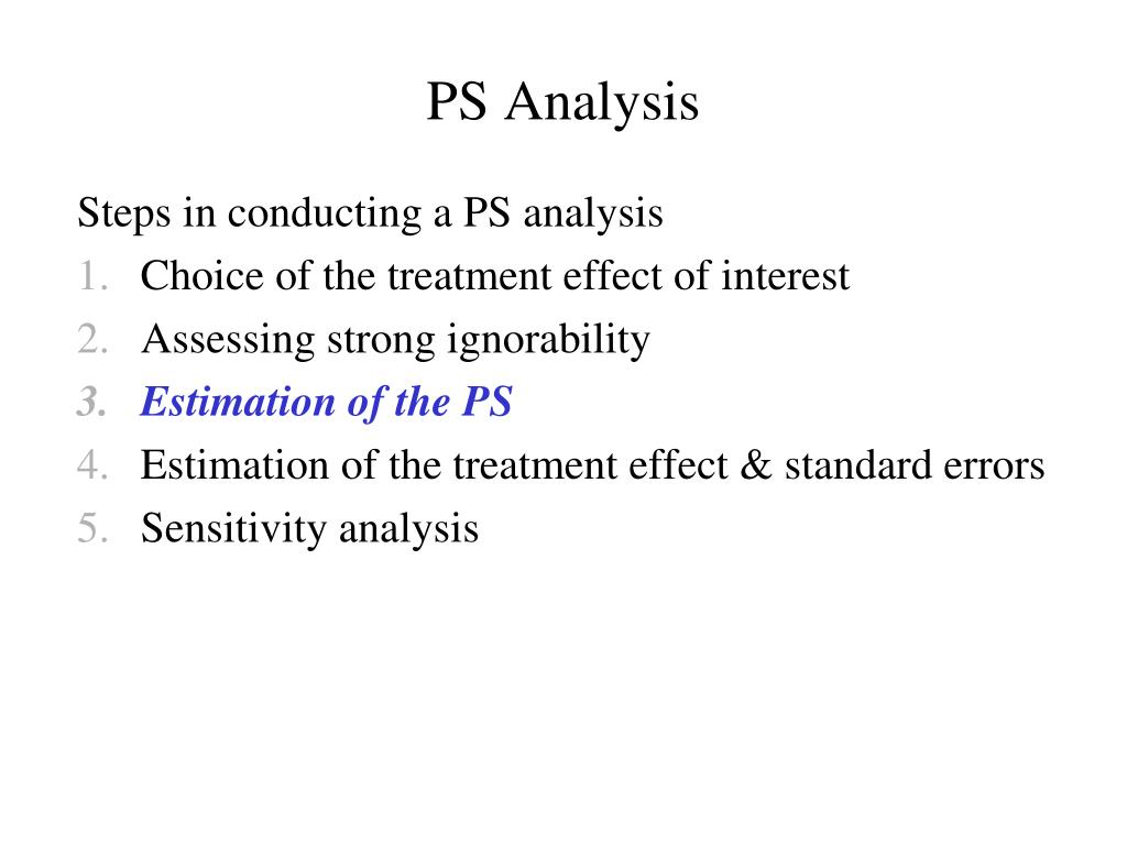 PS Analysis