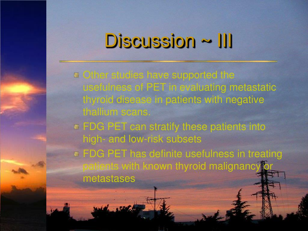 Discussion ~ III