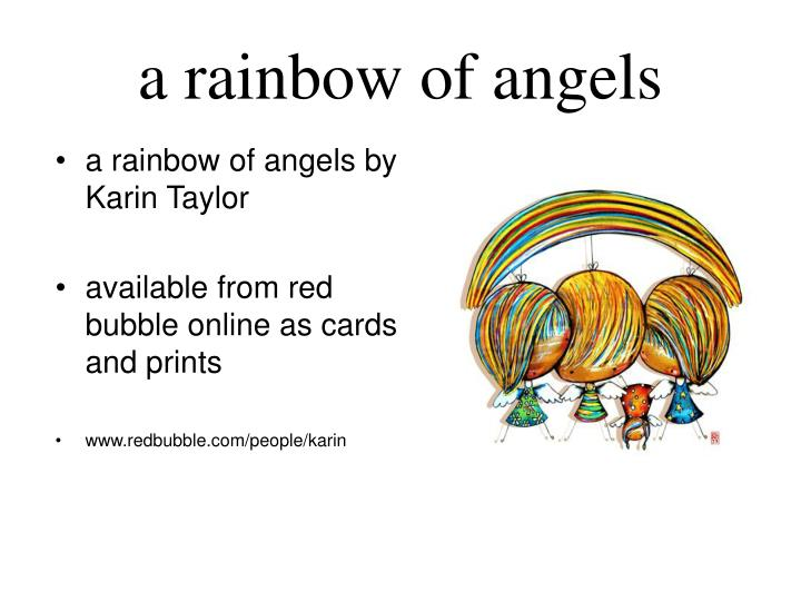 A rainbow of angels