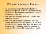 volumetric analysis process